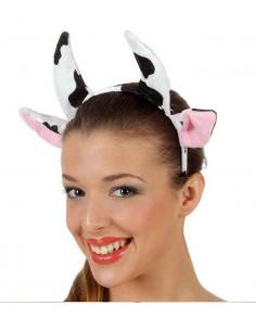 Diadema cuernos de vaca