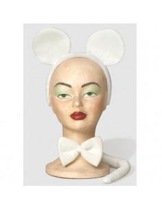 Set ratón blanco