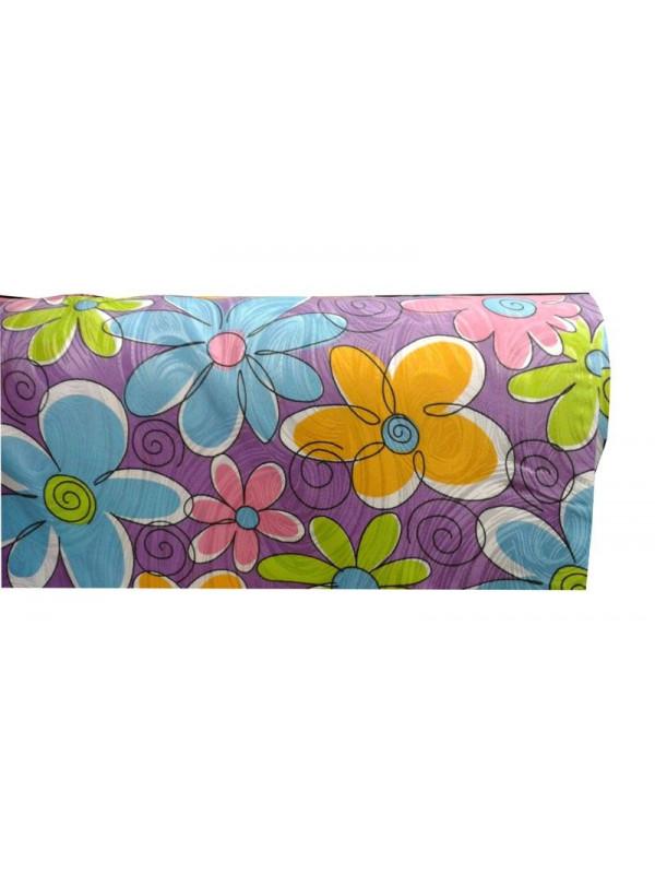 Tejido otoman rayon estampado flor