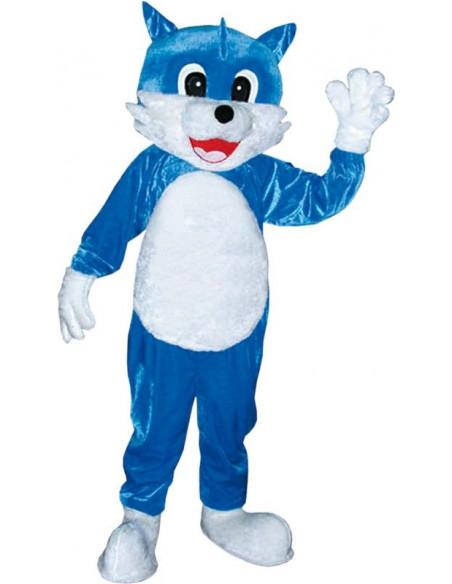 Mascota gato azul