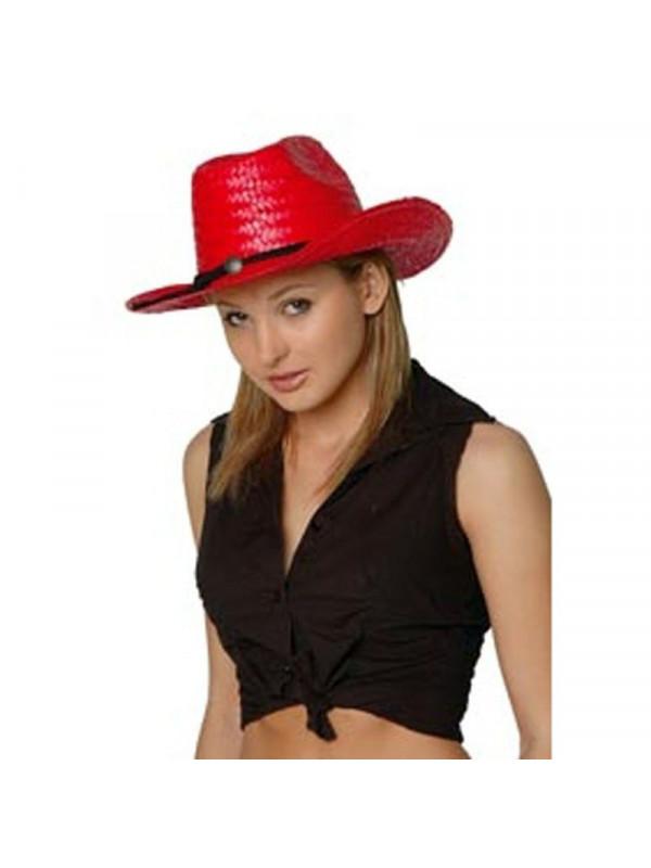 Sombrero cowboy paja colores