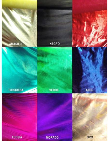 Tejido licra laminado colores metalizados