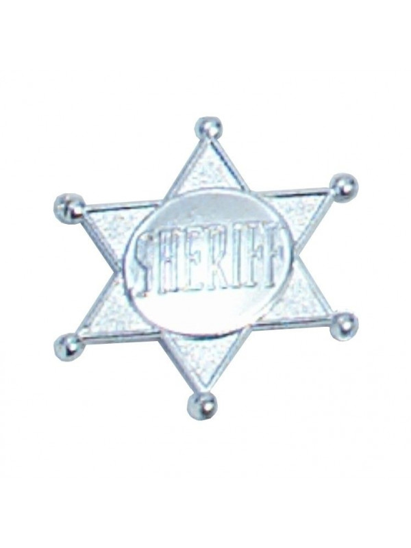 Placa sheriff metalizada