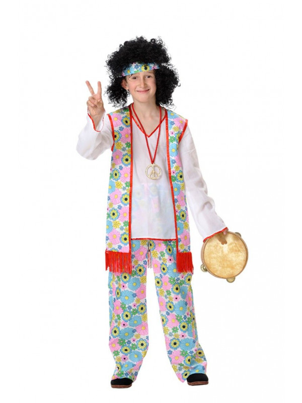 Disfraz hippie niño