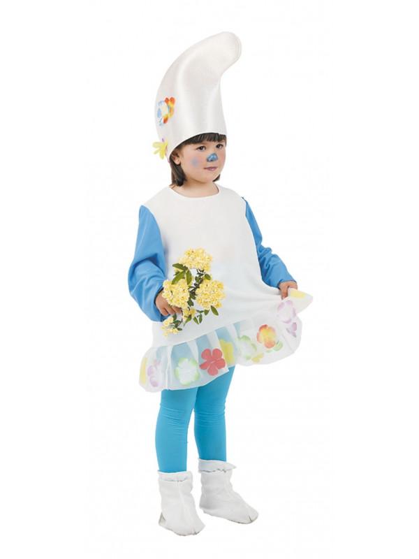 Disfraz pitufina del bosque niña