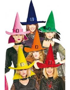 Sombrero de bruja terciopelo