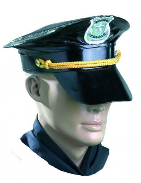Gorra policia cuero