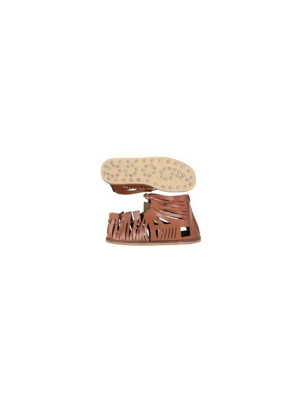Sandalia de piel para trajes de romanos
