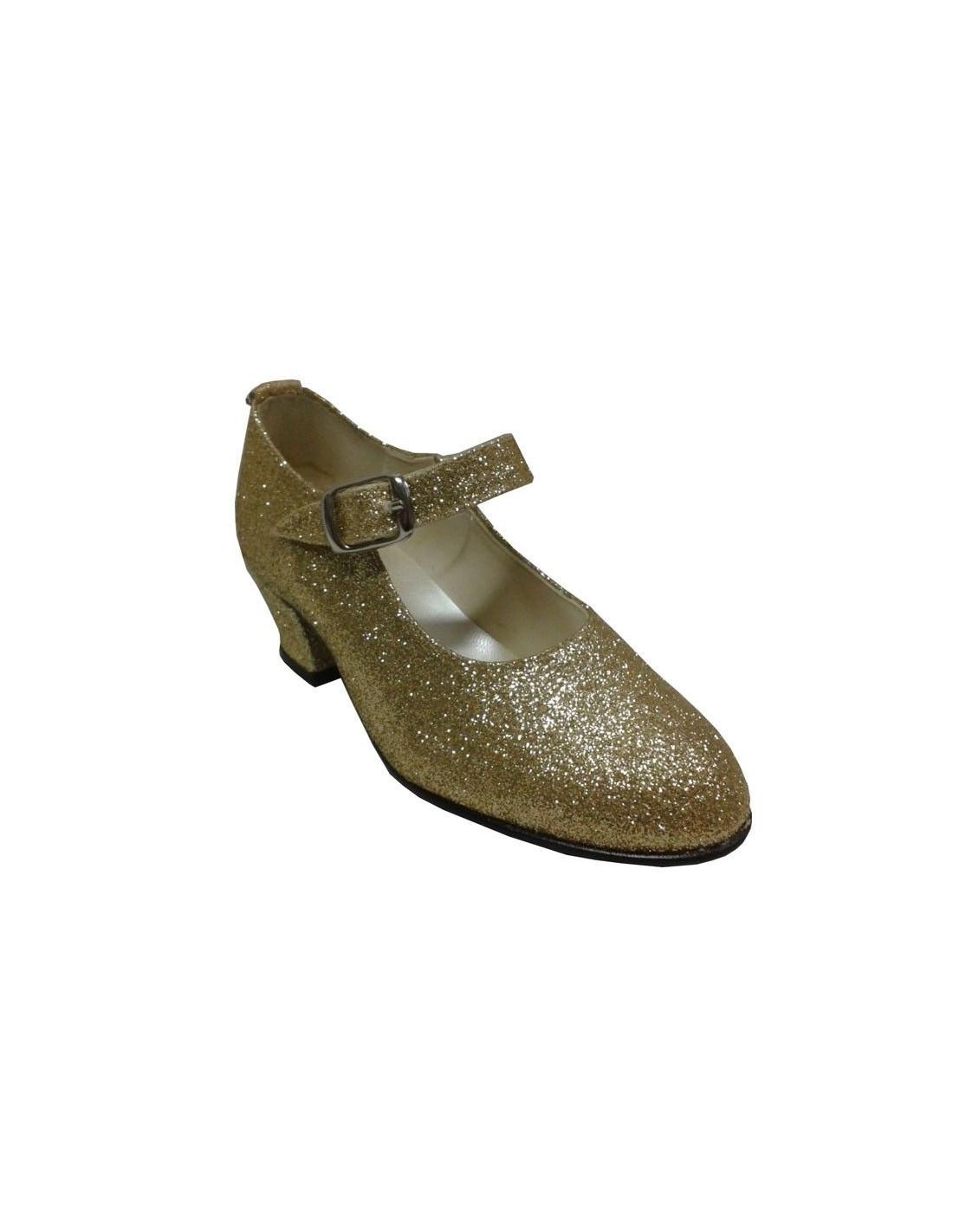 Zapato andaluza plata oro rojo topo blanco - Rojo y blanco, Talla 40