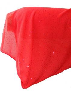 Tela de tul elastico con brillantes cley