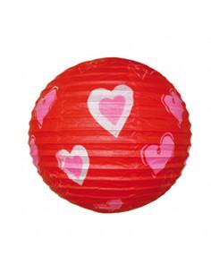 Farol corazones 30 cm