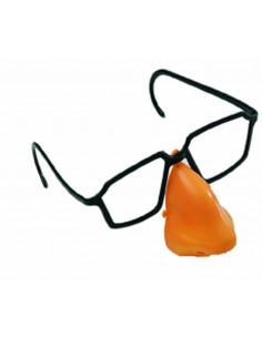 Gafas de plastico con nariz