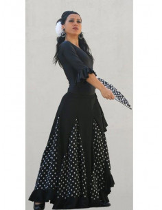 Falda baile adulto 1 volante topo