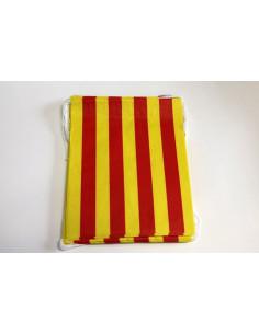 Banderas decoración de calles papel Aragón
