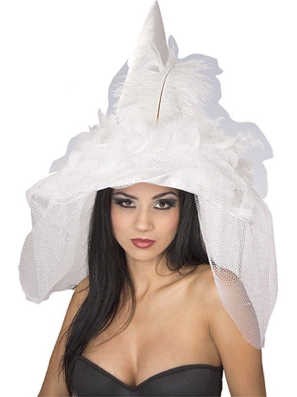 Sombrero de novia bruja