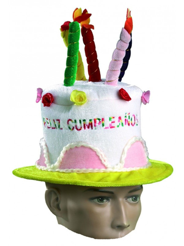Sombrero tarta cumpleaños