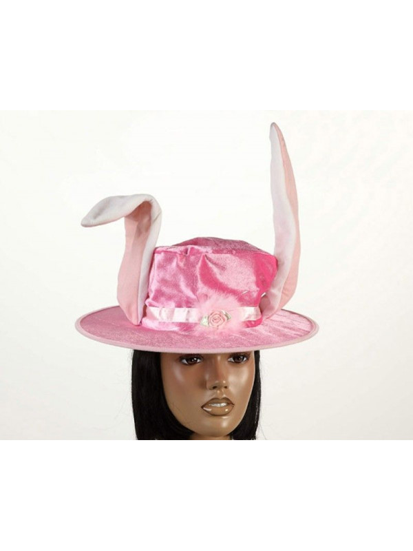 Sombrero conejo rosa