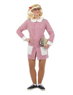 Disfraz de bata colegiala mujer
