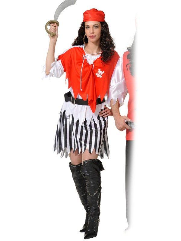 Disfraz piratesa económico mujer