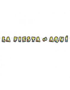 """Guirnalda """" La fiesta es aqui"""""""