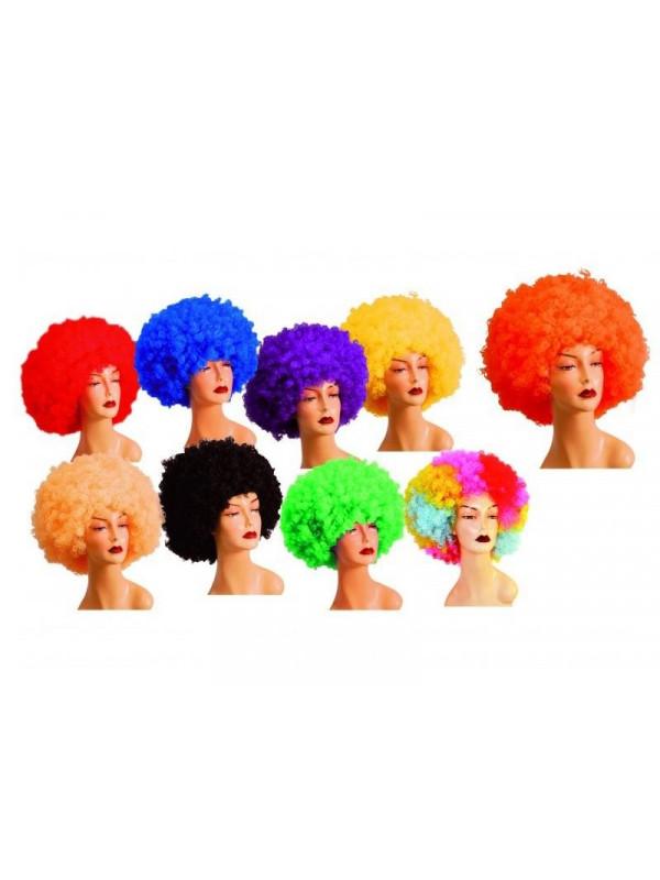 Peluca afro colores