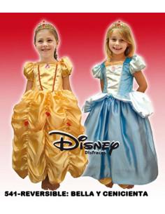 Disfraz reversible Bella y Cenicienta