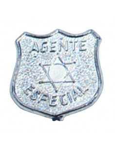 Placa policia metalizada