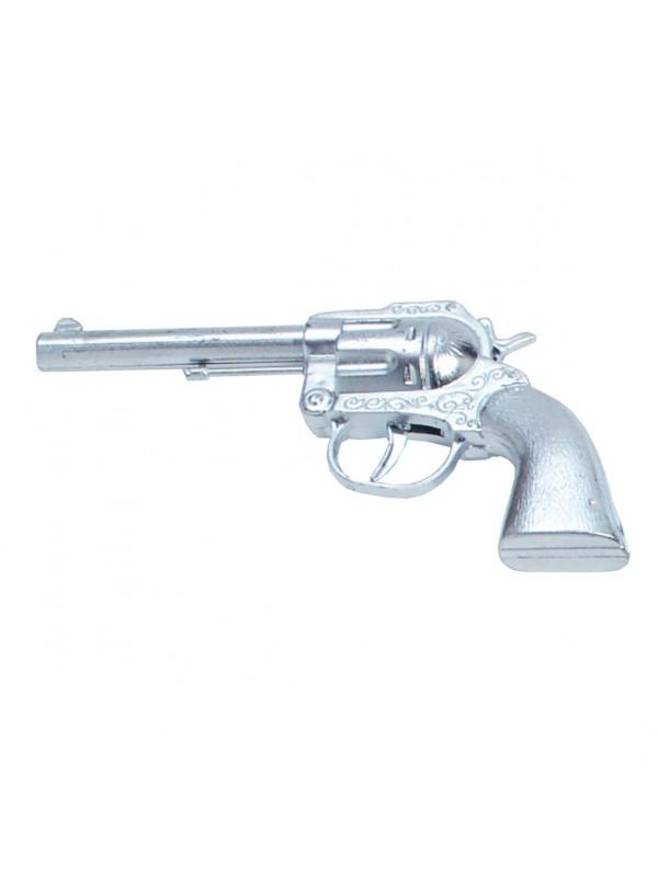 Pistola de vaquero metalizada