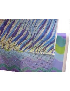 Tejido de punto lentejuelas olas