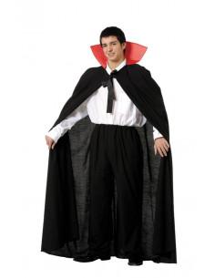 Capas de drácula adulto con cuello Halloween