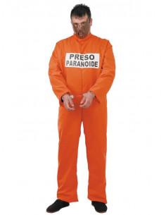 Disfraz de preso paranoide adulto