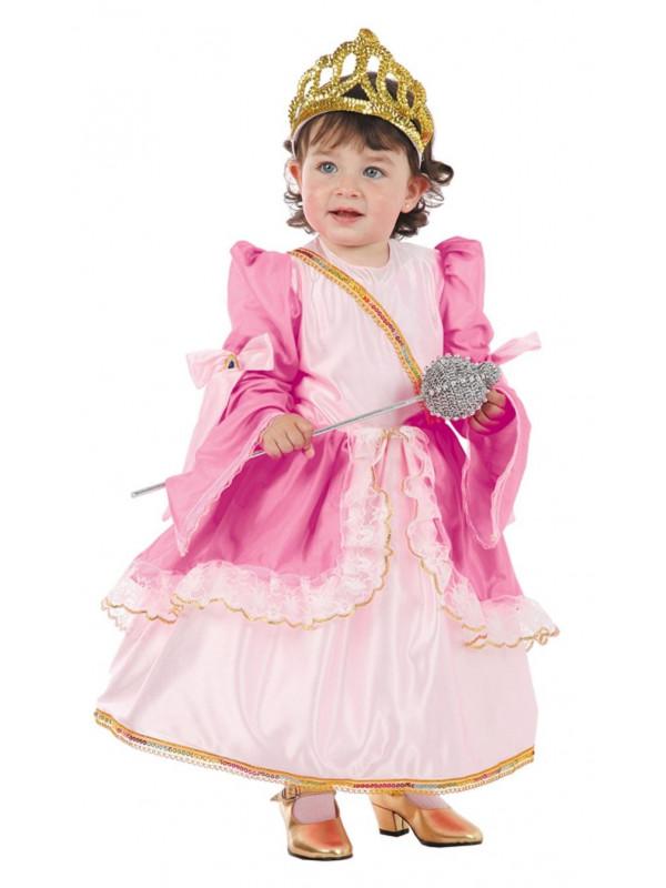 Disfraz reina rosa bebe