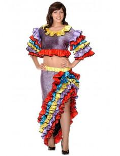 Disfraz de Rumbera caribeña mujer