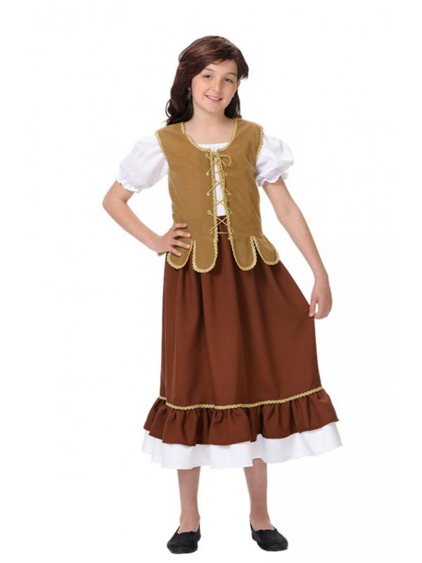 Disfraz tabernera niña