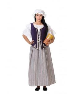 Disfraz hornera medieval mujer