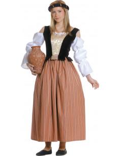 Traje medieval de celestina mujer