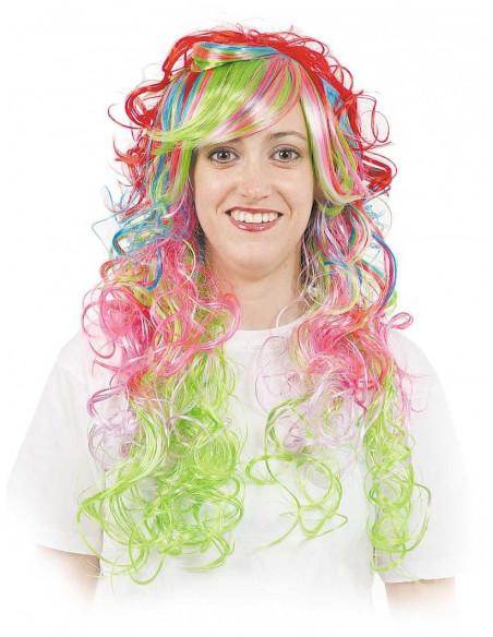 Peluca lady multicolor