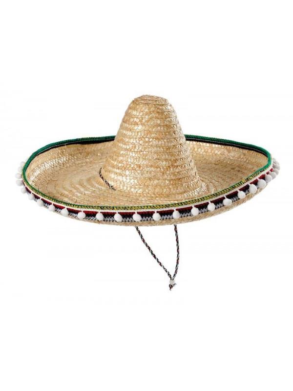 Sombrero mejicano de paja 45cm