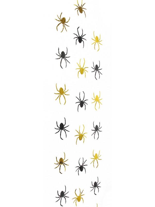 Tira arañas metalizadas