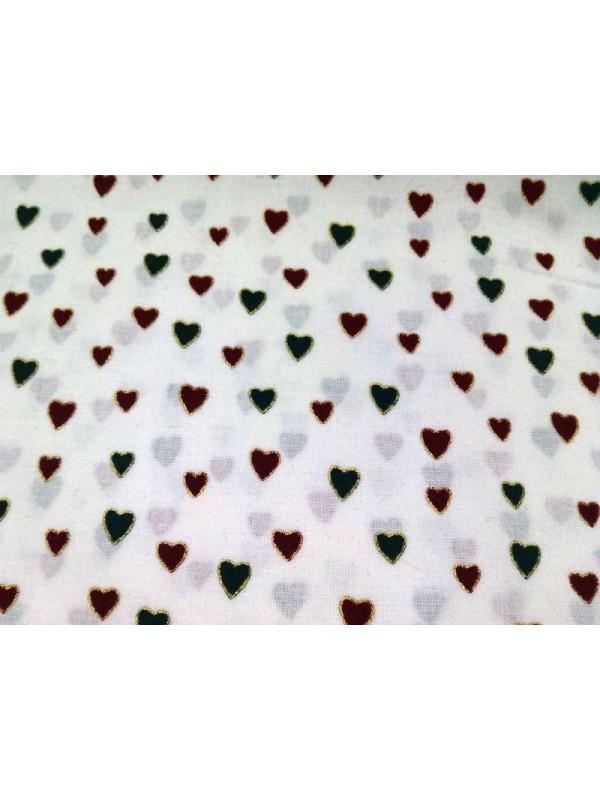Tejido popelín patchwork corazones