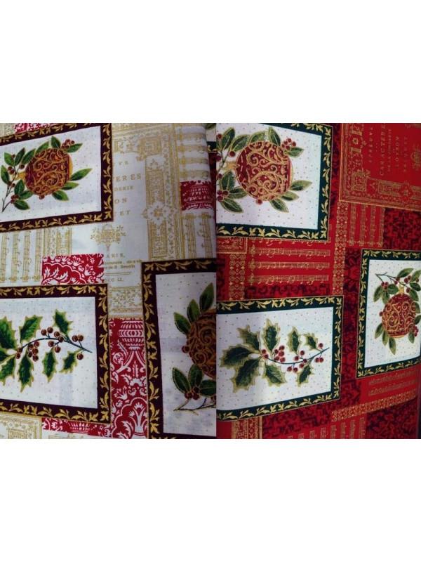 Tejido bolas Navidad patchwork
