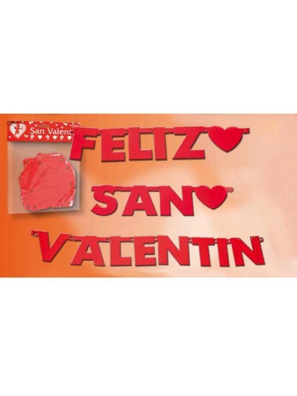 Guirnalda feliz San Valentin