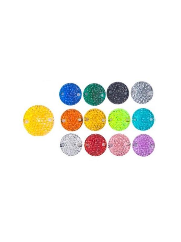 Piedra redonda de micropuntos 18mm