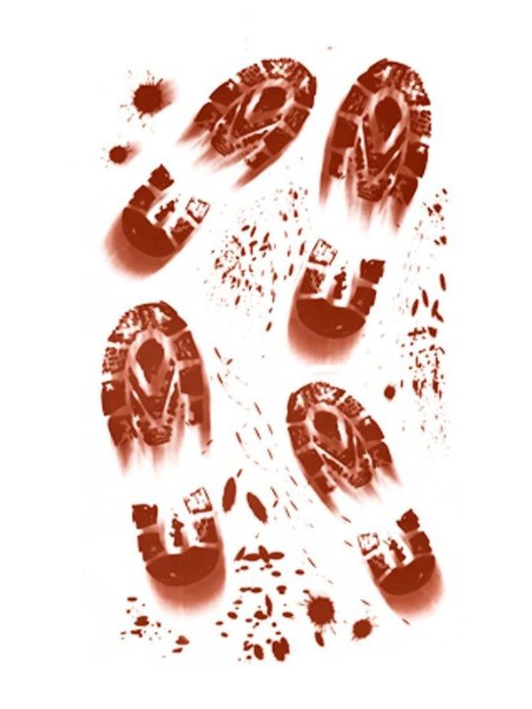 Pegatinas huellas sangrientas