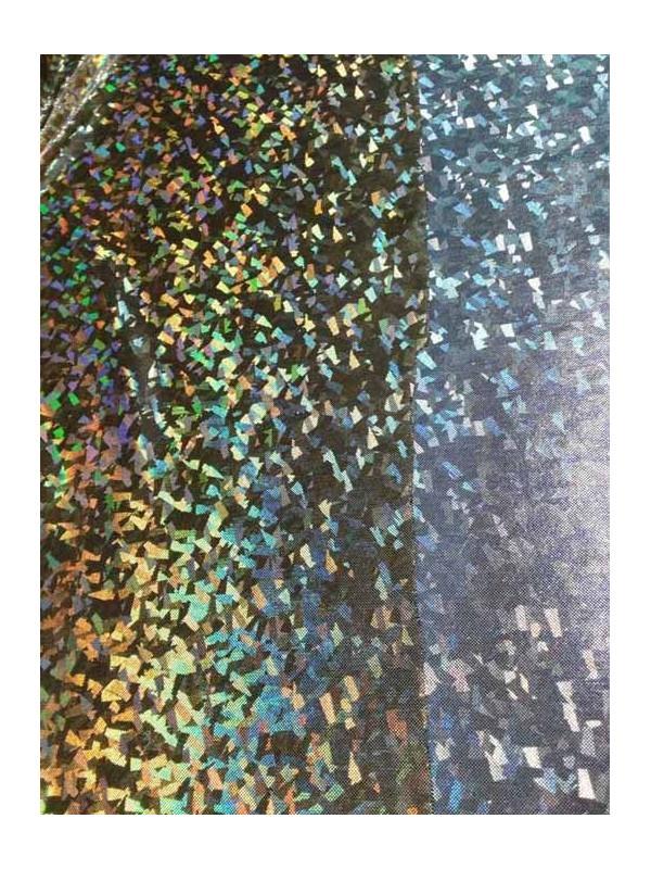 Tela de punto estampado confetti iris