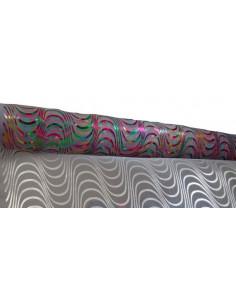 Tela imitacion organza con estampado multicolor