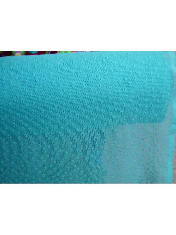 Tela de blonda elastica con agujeros