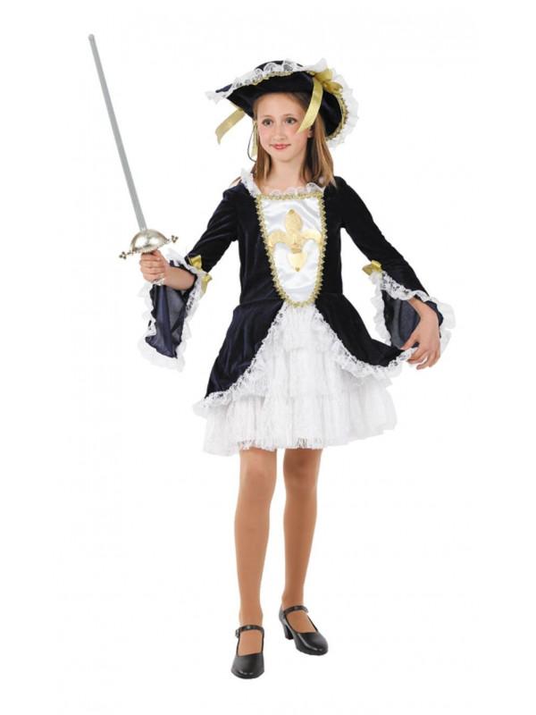 Disfraz mosquetera niña