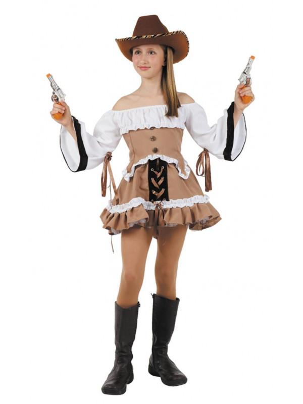 9a5687c6a589f Disfraz vaquera del lejano oeste niña - Comprar en Tienda Disfraces ...