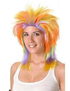 Peluca punky multicolor